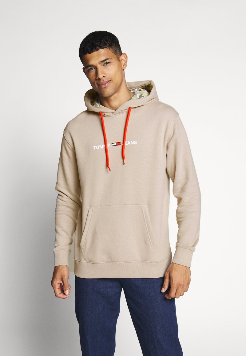 Tommy Jeans - CAMO HOODIE - Hoodie - stone