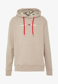 Tommy Jeans - CAMO HOODIE - Hoodie - stone - 4