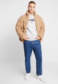 Tommy Jeans - NOVEL LOGO CREW - Sweatshirt - light grey heatherr - 1