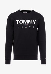 Tommy Jeans - NOVEL LOGO CREW - Felpa - black - 4