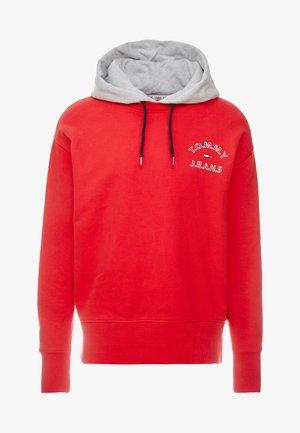 Bluza z kapturem - racing red