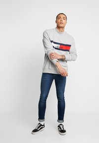 Tommy Jeans - FLAG PANEL - Sweatshirt - light grey - 1