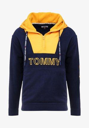 TOMMY LOGO ZIP HOODIE - Bluza z kapturem - black iris/golden glow