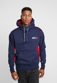 Tommy Jeans - BACK GRAPHIC ZIP HOODIE - Sweat à capuche - black iris/racing red - 0