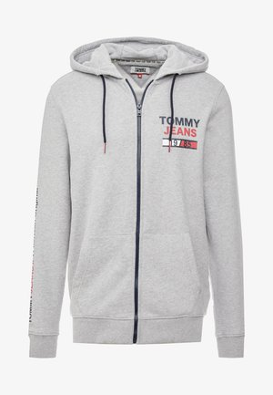 ESSENTIAL GRAPHIC ZIP TROUGH - Collegetakki - light grey heather