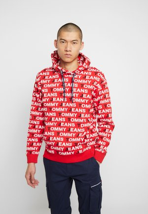 ALL OVER HOODIE - Sweat à capuche - racing red