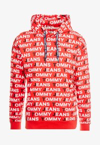 Tommy Jeans - ALL OVER HOODIE - Hoodie - racing red - 4