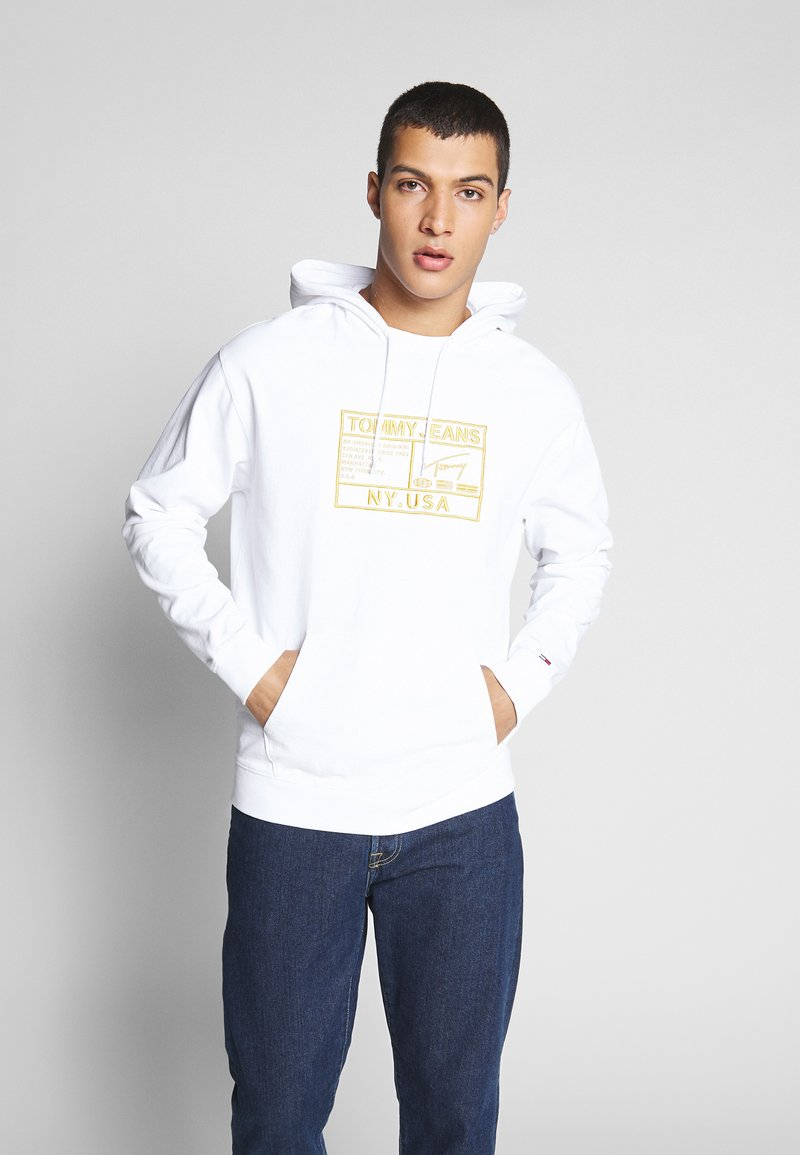 Tommy Jeans - SURPLUS HOODIE - Bluza z kapturem - white