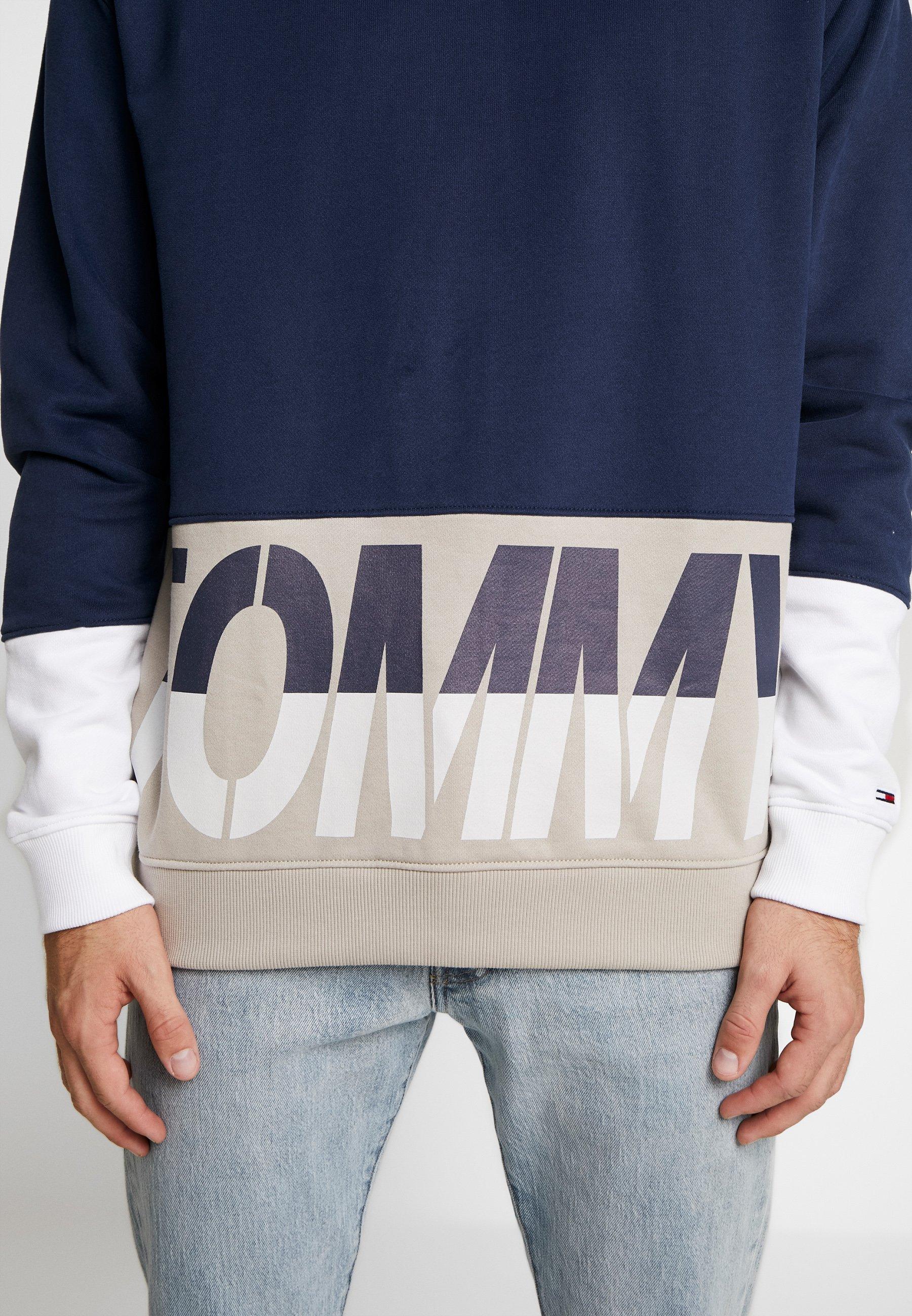 Tommy Jeans Colorblock Logo Crew - Sweatshirt Twilight Navy/multi