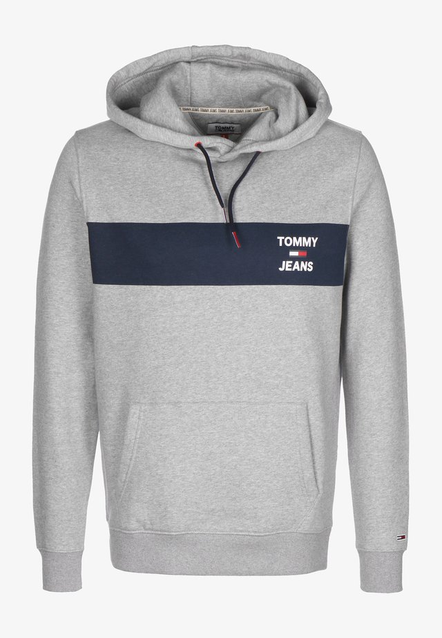 TJM ESSENTIAL GRAPHIC HOODIE - Jersey con capucha - lt grey heather