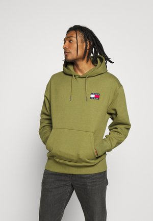 BADGE HOODIE - Hoodie - uniform olive