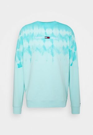 TIE DYE CREW - Felpa - light chlorine blue