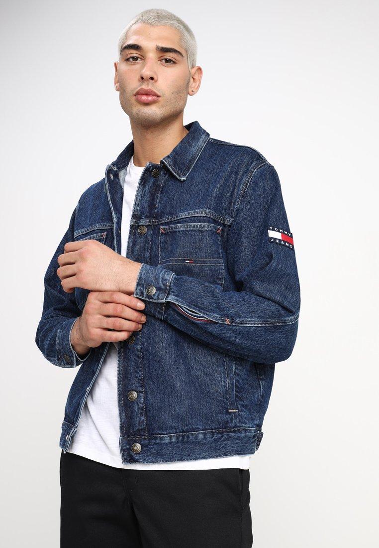 Tommy Jeans - OVERSIZED TRUCKER - Denim jacket - denim
