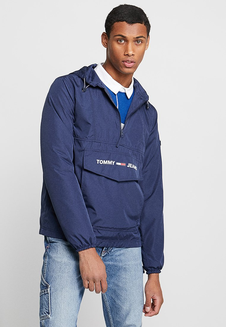 Tommy Jeans - SHELL SOLID POPOVER - Windbreaker - blue
