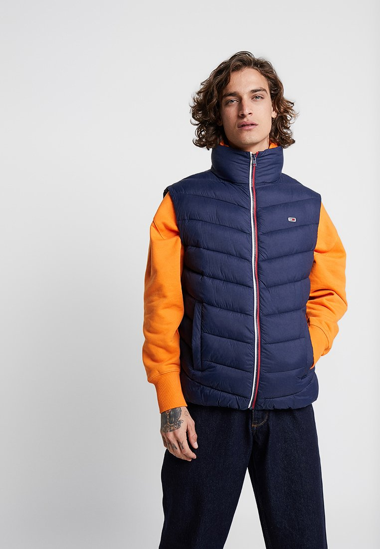 Tommy Jeans - ESSENTIAL PUFFER VEST - Waistcoat - blue