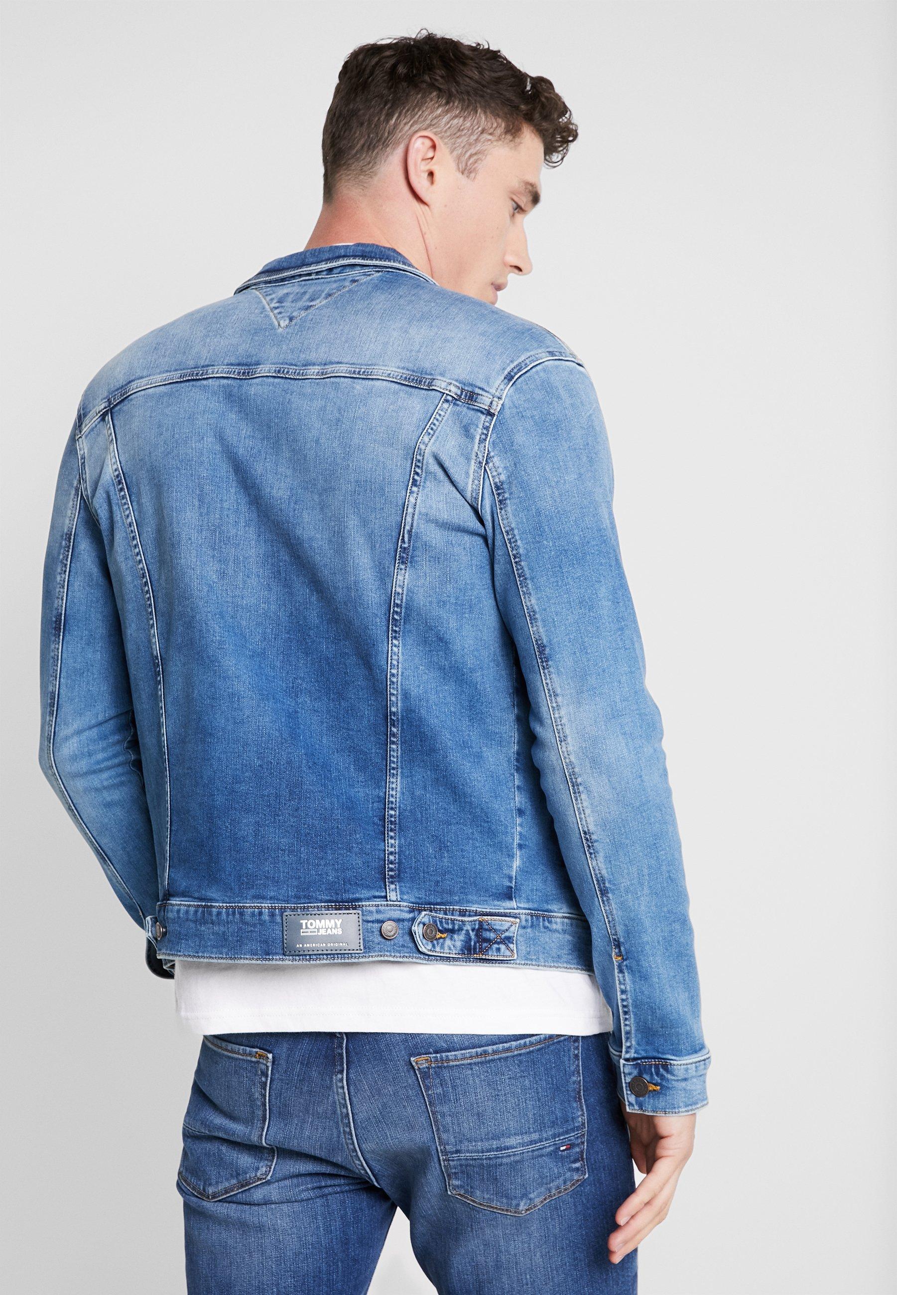TruckerVeste Tommy Jeans Blue Regular Jean En Denim vmnNw08O