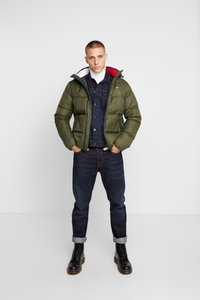 Tommy Jeans - ESSENTIAL JACKET - Gewatteerde jas - forest night - 1