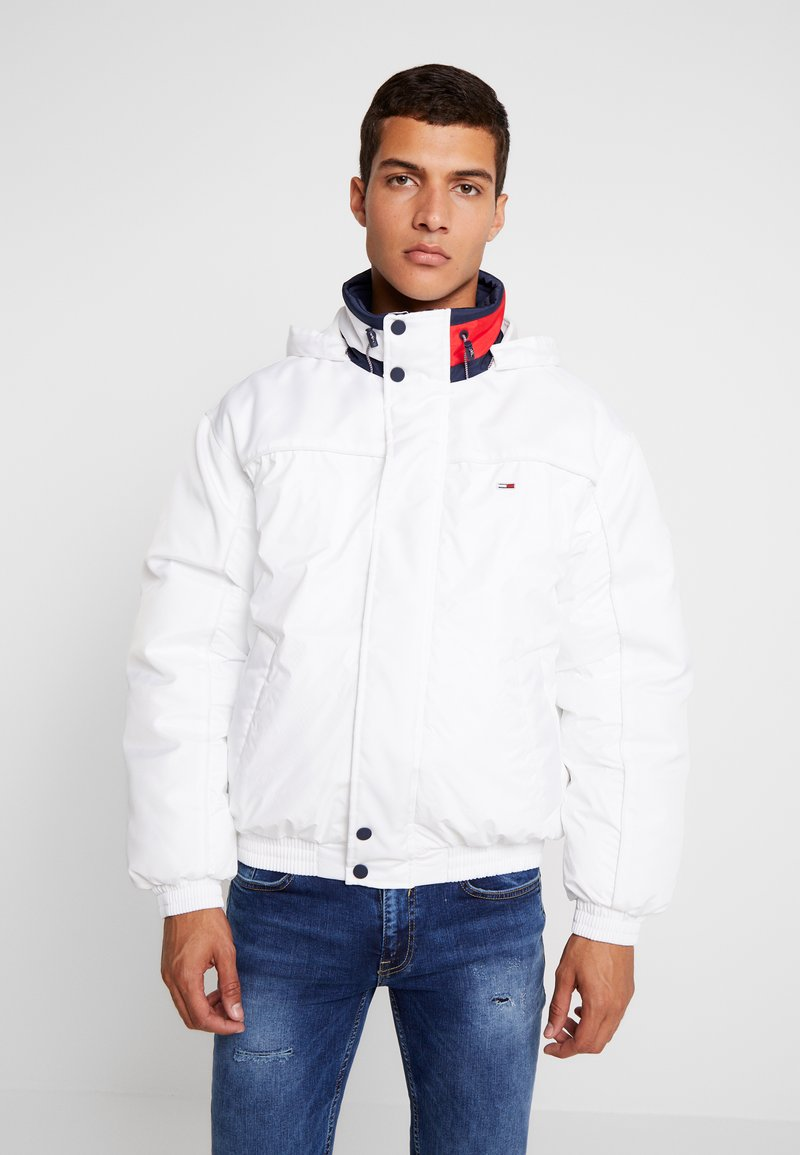 Tommy Jeans - BRANDED COLLAR JACKET - Winterjacke - classic white