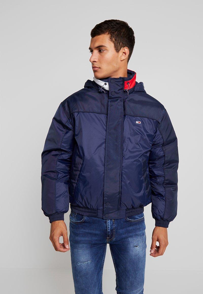 Tommy Jeans - BRANDED COLLAR JACKET - Winter jacket - black iris