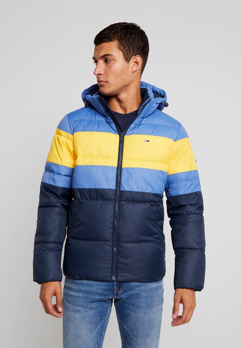 Tommy Jeans - RUGBY STRIPE JACKET - Winter jacket - dutch blue