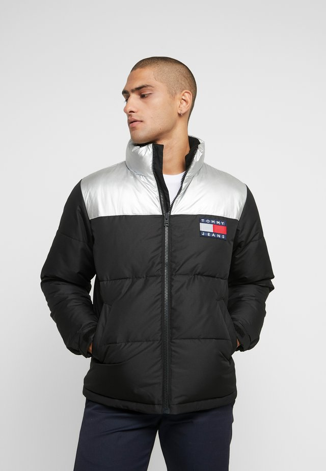 JACKET - Down jacket - metallic/black