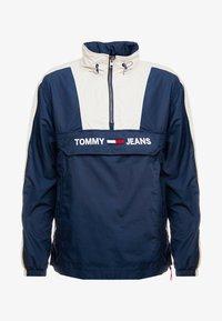 Tommy Jeans - COLORBLOCK POPOVER - Větrovka - black iris/pumice stone - 4
