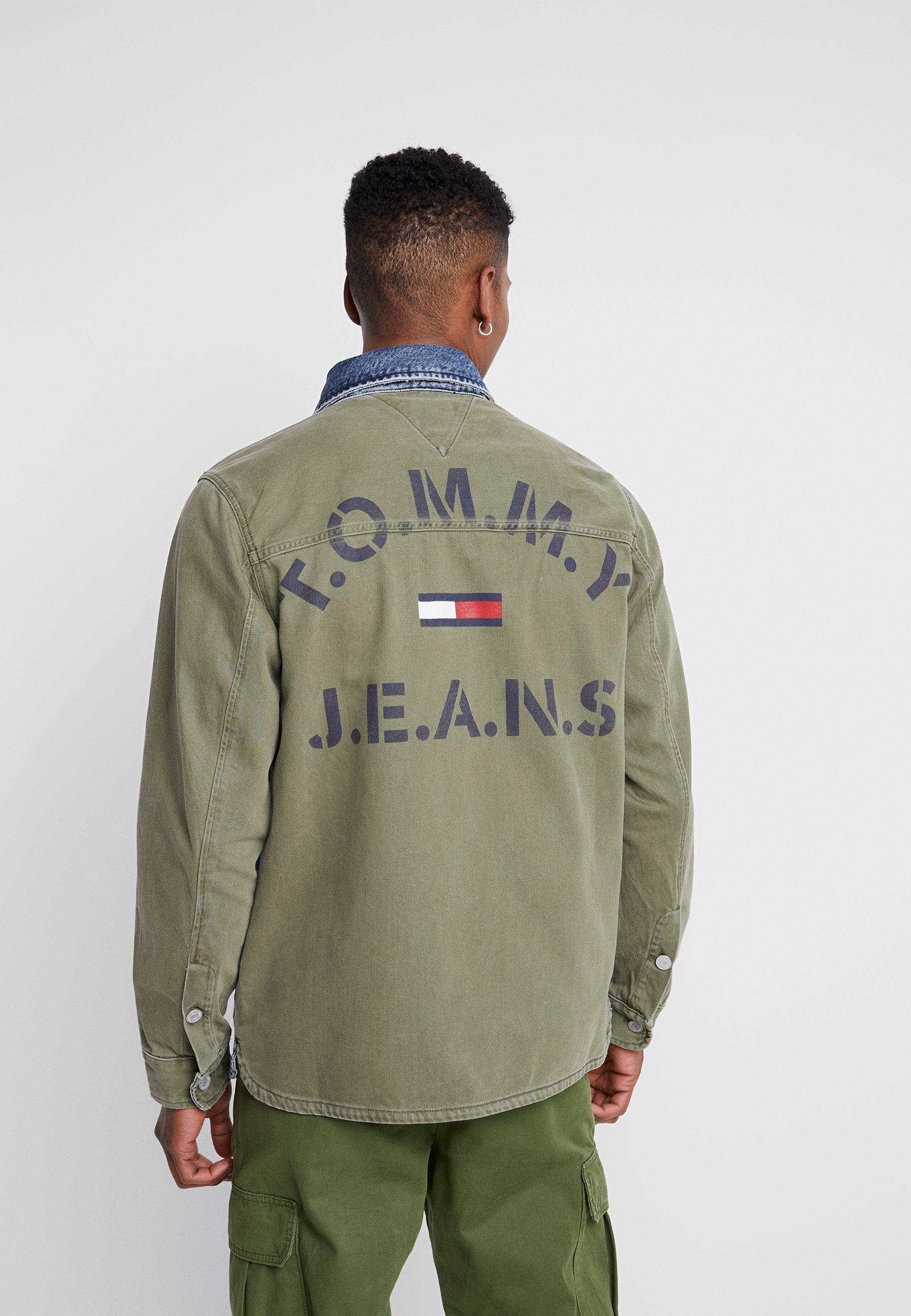 Tommy Jeans Cargo Jacket - Denim New Care Mix UK