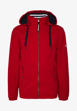 ESSENTIAL HOODED JACKET - Summer jacket - deep crimson