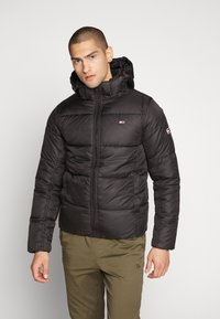 Tommy Jeans - TJM BASIC HD JACKET  - Zimní bunda - black - 0