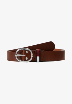 FLAG INLAY BELT - Belte - brown