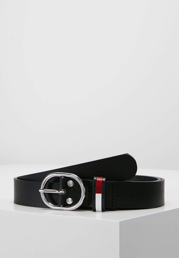 Tommy Jeans - FLAG INLAY BELT - Pásek - black