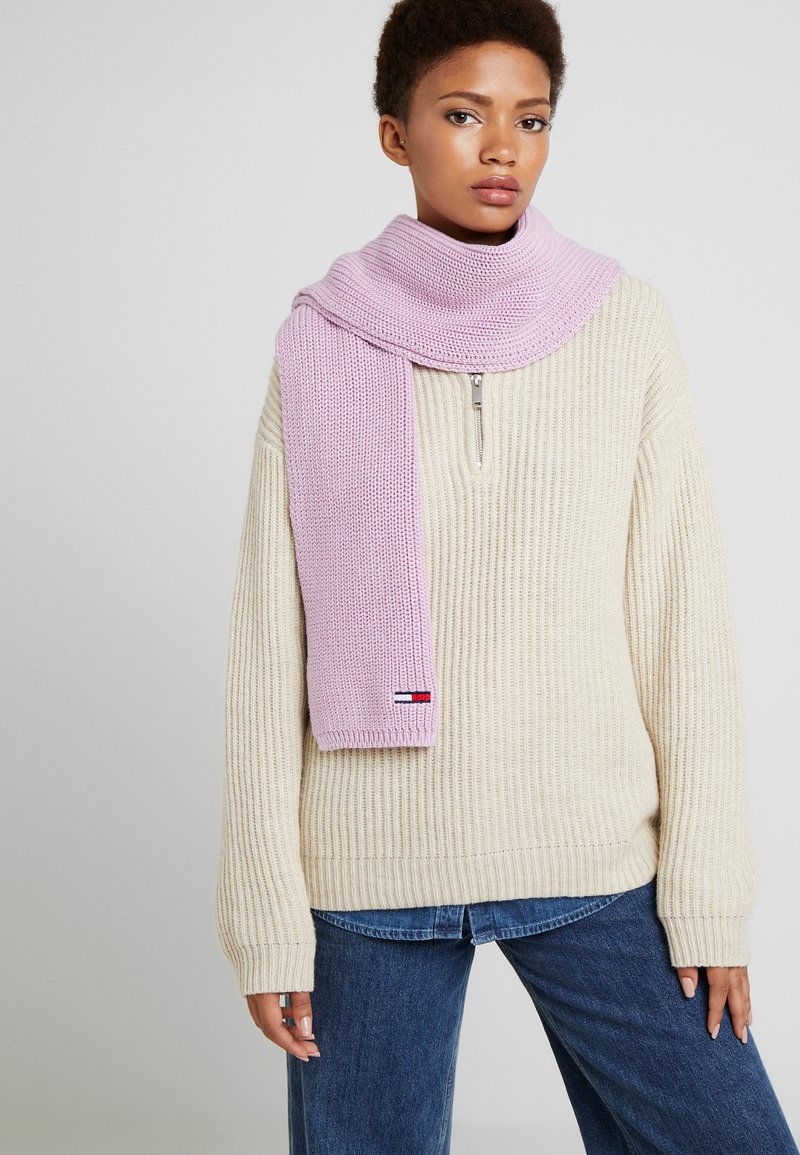 Tommy Jeans - BASIC FLAG SCARF - Scarf - purple
