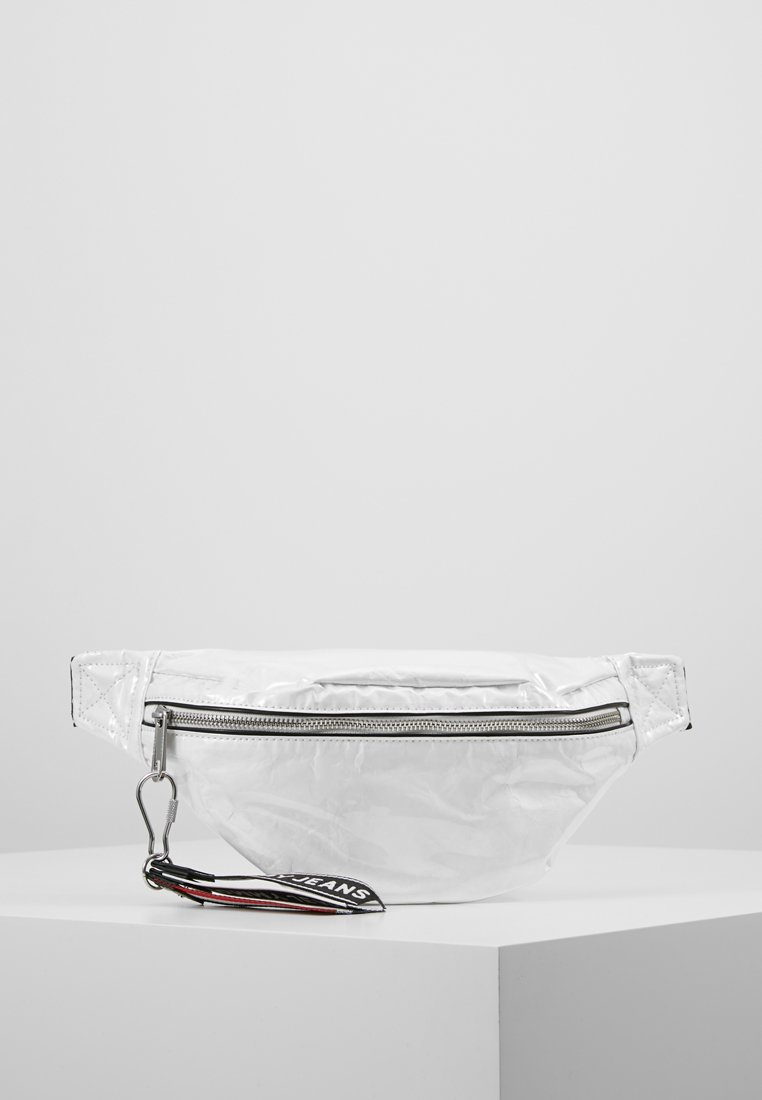 Tommy Jeans - LOGO TAPE COATED BUMBAG - Bum bag - white