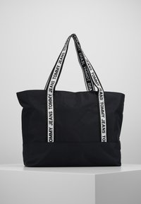 Tommy Jeans - LOGO TAPE TOTE - Shopper - black - 0