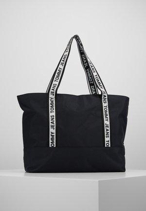 LOGO TAPE TOTE - Velká kabelka - black