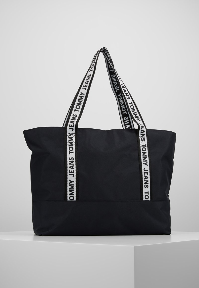 Tommy Jeans - LOGO TAPE TOTE - Shopper - black