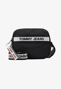 Tommy Jeans - LOGO TAPE CROSSOVER - Umhängetasche - black - 4