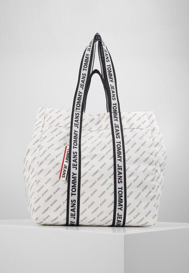 LOGO TAPE TOTE - Tote bag - white