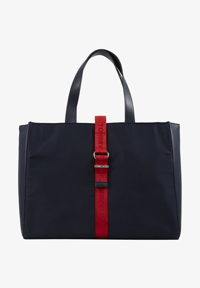 MODERN TWIST TOTE - Shoppingveske - blue