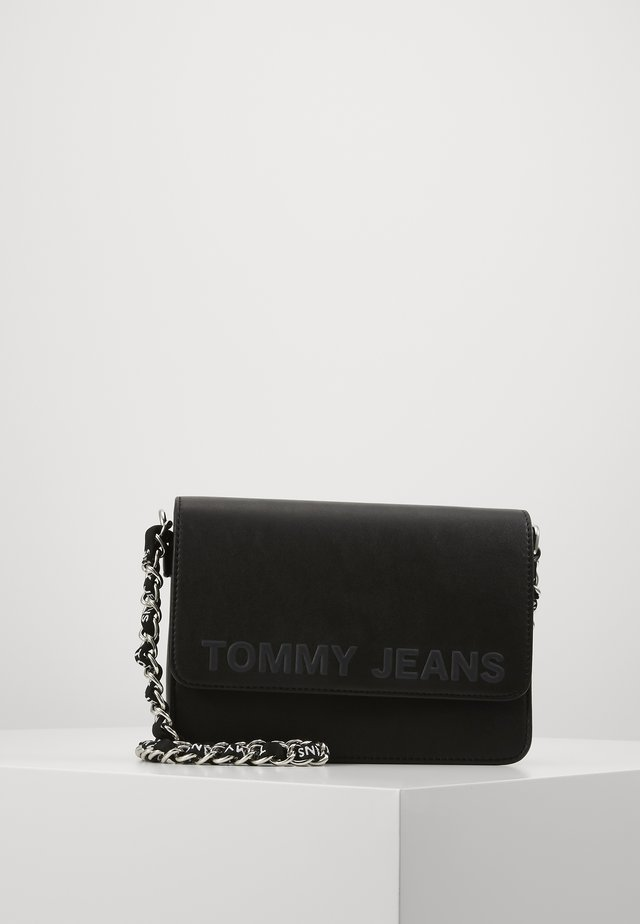 ITEM FLAP CROSSOVER - Across body bag - black