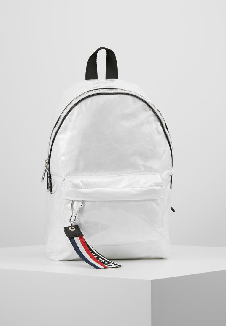 Tommy Jeans - LOGO TAPE COATED BACKPACK - Rucksack - white