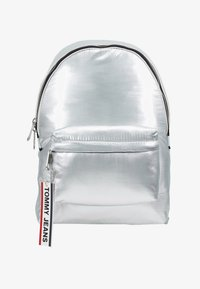 Tommy Jeans - LOGO TAPE BACKPACK - Mochila - silver - 5