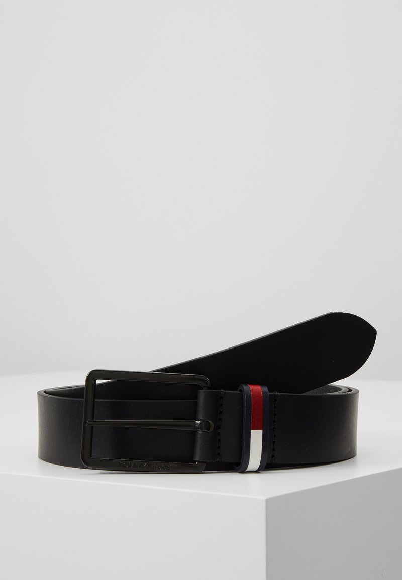 Tommy Jeans - FLAG INLAY - Pasek - black