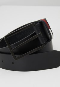 Tommy Jeans - FLAG INLAY - Pasek - black - 4