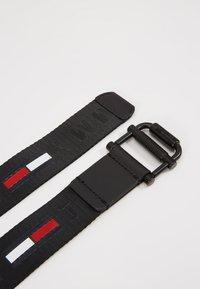 Tommy Jeans - ROLLER WEBBING BELT - Pásek - black - 3