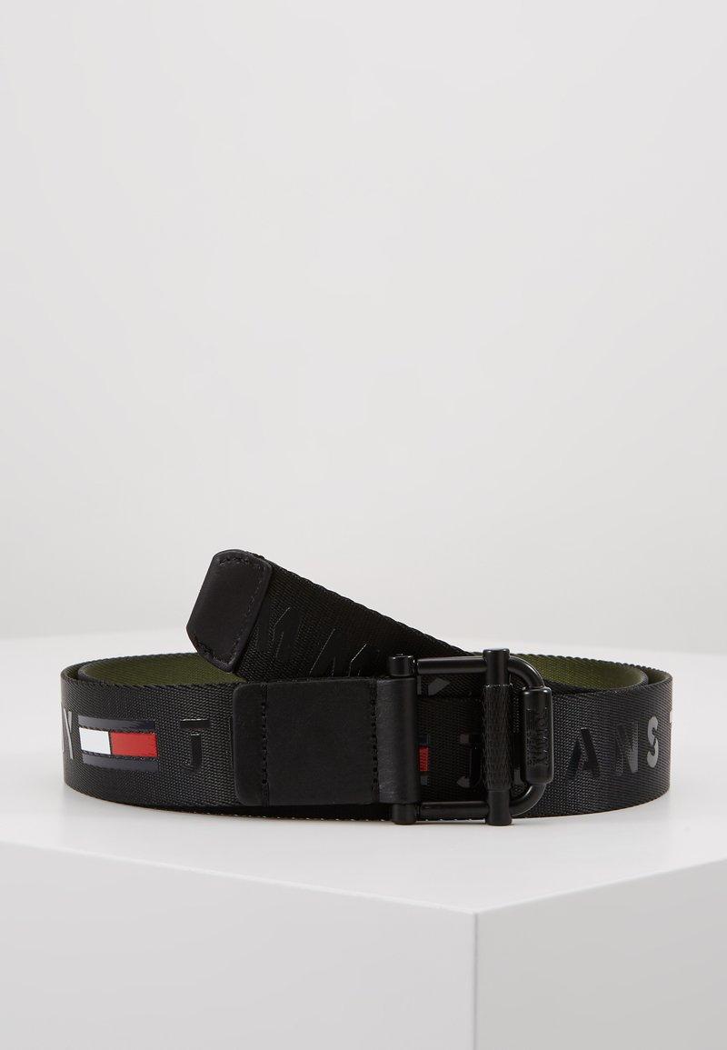 Tommy Jeans - ROLLER WEBBING BELT - Pásek - black