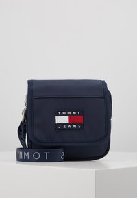 Tommy Jeans - HERITAGE FLAP CROSSOVER - Sac bandoulière - blue - 0