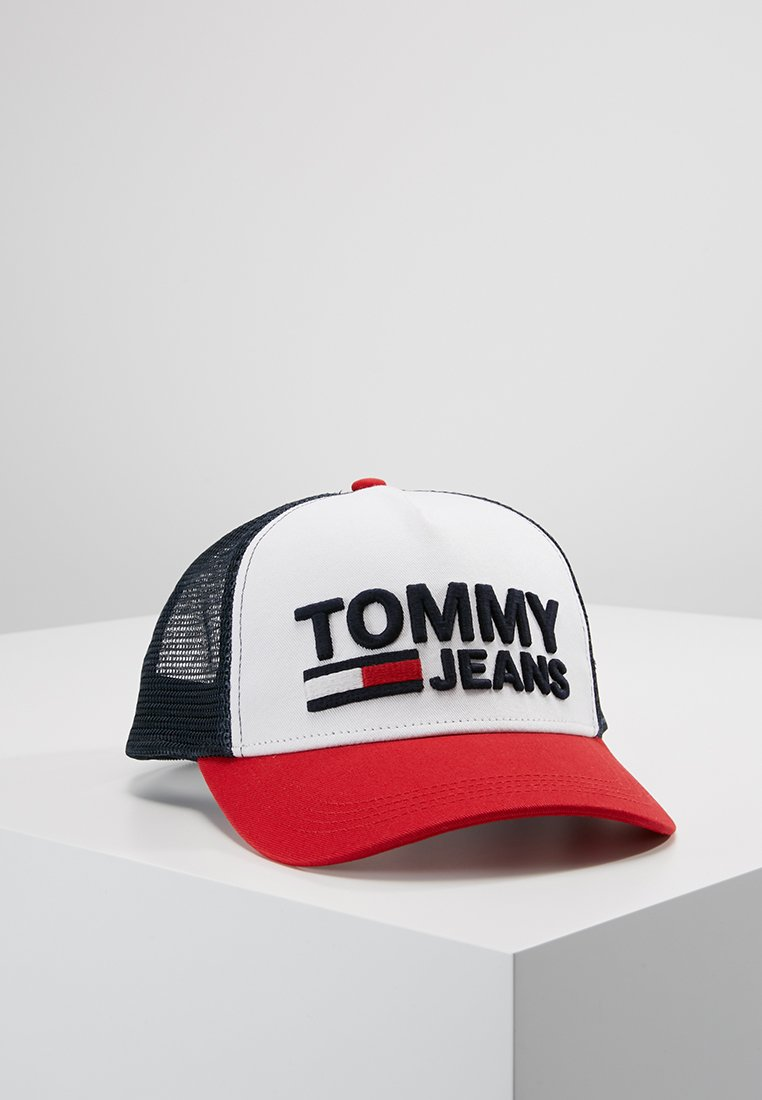 Tommy Jeans - TRUCKER CAP - Gorra - white/red
