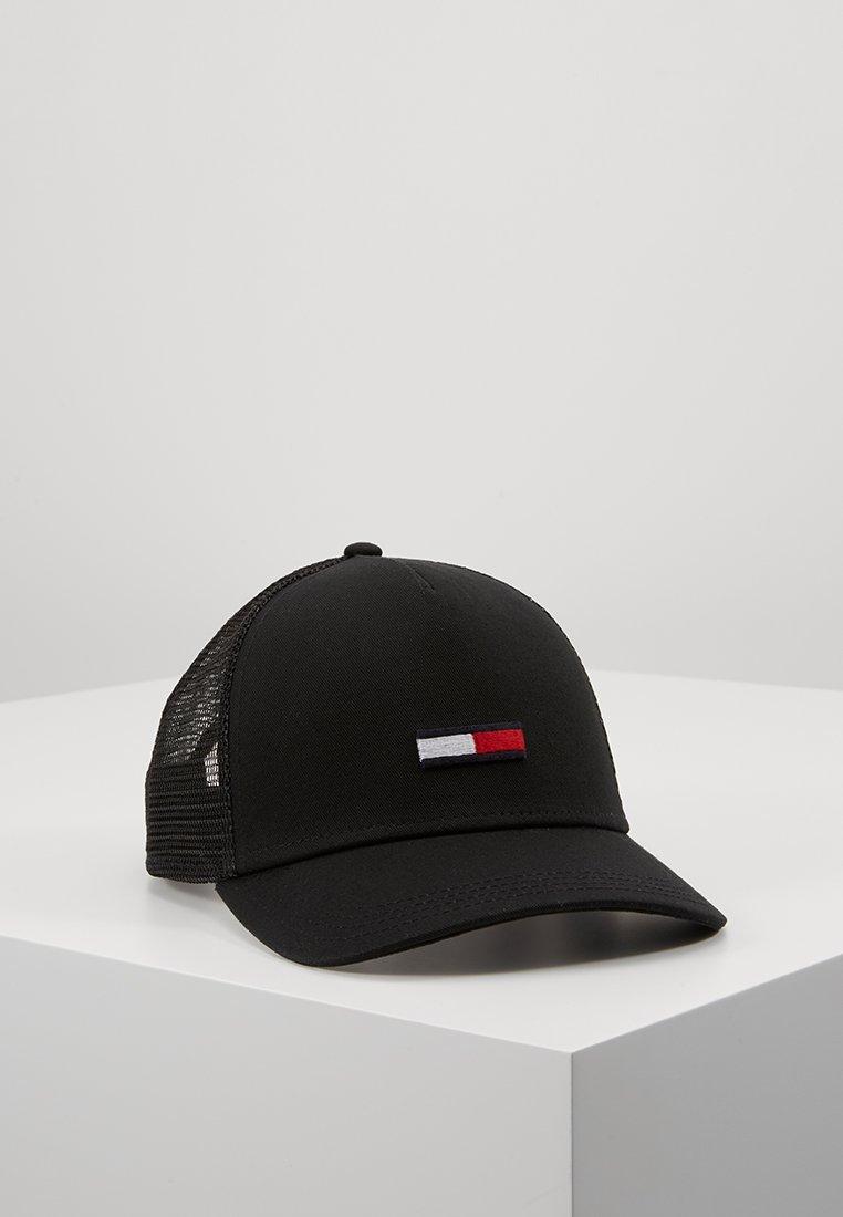 Tommy Jeans - TRUCKER FLAG - Cap - black