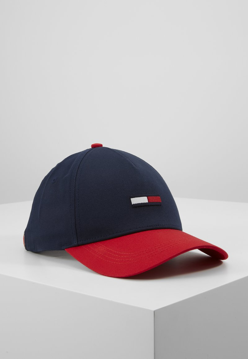 Tommy Jeans - FLAG - Cap - dark blue/red